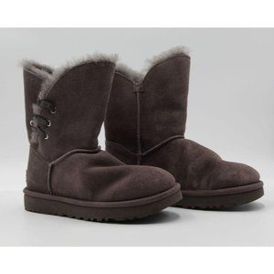 UGG CONSTANTINE CHARCOAL SHEARLING BOOT SZ 5